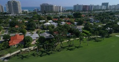 Miami mansions aerial video Stock Footage