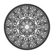 Mandala oriental symbol Stock Illustration