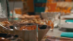 Food on the Table Stock Footage