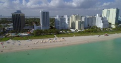 Fontainebleau Miami Beach aerial video Stock Footage