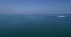 Aerial boat and jetski Miami Stock Footage