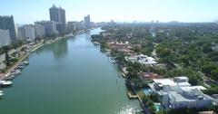 Rising over Miami Beach 4k 60p Stock Footage