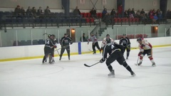 Exciting in game junior hockey action Stock Footage