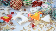 Christmas and New Year's toys. Stock Footage