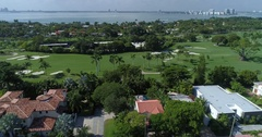 Aerial video La Gorce Country Club 4k 60p Stock Footage