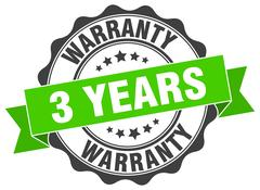 3 years warranty stamp. sign. seal Stock Illustration