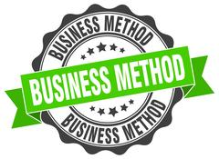 Business method stamp. sign. seal Stock Illustration