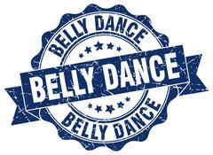 Belly dance stamp. sign. seal Stock Illustration