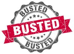 Busted stamp. sign. seal Stock Illustration