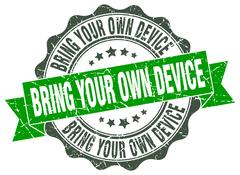 Bring your own device stamp. sign. seal Stock Illustration