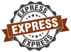 Express stamp. sign. seal Stock Illustration