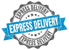 Express delivery stamp. sign. seal Stock Illustration