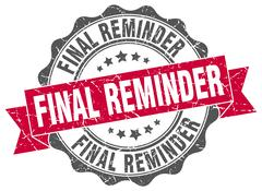 Final reminder stamp. sign. seal Stock Illustration