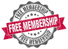 Free membership stamp. sign. seal Stock Illustration