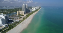 Aerial footage Miami Beach by 65th Street Stock Footage
