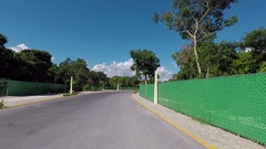 Mexico drive POV rural roads Cancun area HD Stock Footage