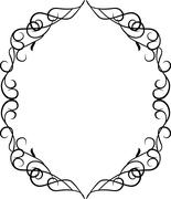 Vector border frame with ornament pattern Stock Illustration
