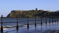 SCARBOROUGH CASTLE MARINE DRIVE NORTH BAY Stock Footage