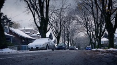 Bleak Winter Day In The City Stock Footage