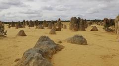 The Pinnacles at Nambung National Park of Western Australia Stock Footage