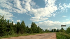 Road Russia village Stock Footage