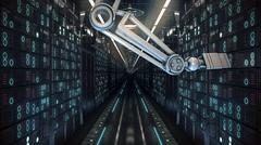 Future computer server farm. 3d illustration Stock Illustration