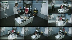 CCTV or surveillance operating in police office, supervision of police officers Stock Footage