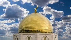 Golden Dome Mosque Stock Footage