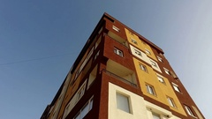 New apartments buildings exterior Stock Footage