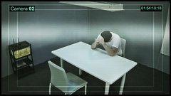 Multi-screen video monitoring interrogation rooms, surveillance security system Stock Footage