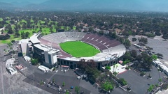 ROSE BOWL AERIAL Stock Footage