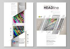 Blog graphic business templates. Page website design template, easy editable Stock Illustration