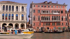 WATER TAXIS ALLILAGUNA FERRY GRAND CANAL VENICE Stock Footage