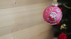 Christmas and New Year Decoration. Blurred Bokeh Holiday Background. Blinking Stock Footage