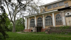 Old building in the park Stock Footage