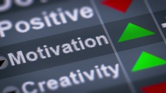 """""""Motivation"""" on the screen. Up. looping. Stock Footage"""
