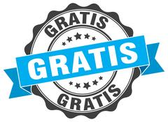 Gratis stamp. sign. seal Stock Illustration