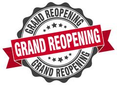 Grand reopening stamp. sign. seal Stock Illustration