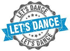 Let's dance stamp. sign. seal Stock Illustration
