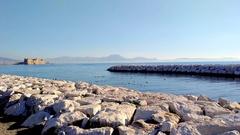 Promenade of Naples - Italy Stock Footage