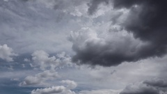 Ominous Clouds Timelapse Stock Footage