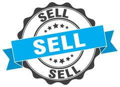Sell stamp. sign. seal Stock Illustration