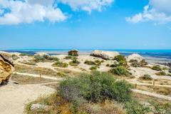 View to the Caspian sea, Gobustan, Azerbaijan Stock Photos