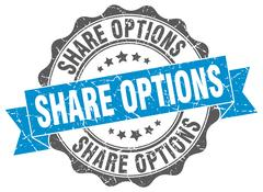 Share options stamp. sign. seal Stock Illustration
