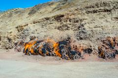 Flaming mountain, Baku, Azerbaijan Stock Photos