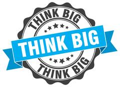 Think big stamp. sign. seal Stock Illustration