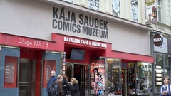 Comics Museum at Prague, Czech Republic Stock Footage
