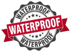 Waterproof stamp. sign. seal Stock Illustration
