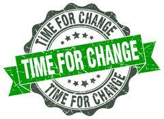 Time for change stamp. sign. seal Stock Illustration