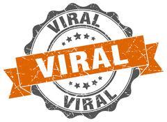 Viral stamp. sign. seal Stock Illustration